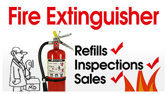Fire Extinguisher Refills, Inspections, and Sales
